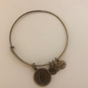 Alex and Ani C charm bracelet